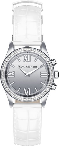 isaac-mizrahi-p1l46aa-silver-smartwatch-with-white-strap-engineered-by-hp