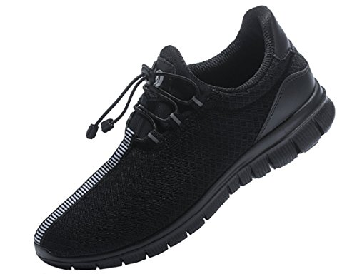 JUAN Walking Shoes Fitness Shoes Exercise Shoes Sports Shoes Mesh Running Shoes Soft Bottom Sneakers All Black