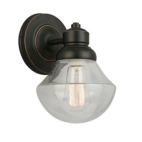 Design House 577858 Sawyer One Wall Light, Oil Rubbed Bronze
