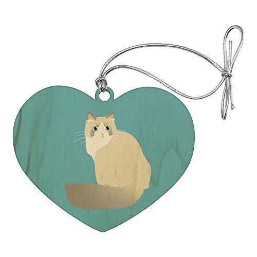 Rag Doll Cat Ornament - GRAPHICS & MORE Ragdoll Cat Heart Love Wood Christmas Tree Holiday Ornament
