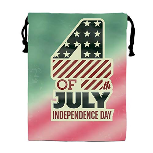 4th July Independence Day Unisex Outdoor Gym Sack Bag Travel Drawstring Bag -