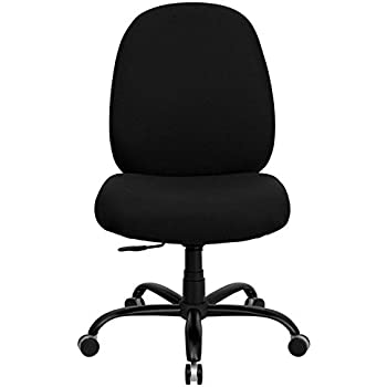 Flash Furniture WL MG BK GG Hercules Series Pound BigTall Black Fabric fice Chair with Extra Wide Seat