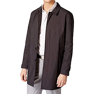 Calvin Klein Mens Water Repellent Button Down Raincoat