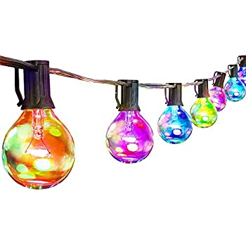 Amazon Com Novelty Lights 25 Pack G40 Led Outdoor String