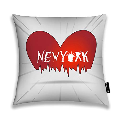 Randell Throw Pillow Covers New York Heart Vintage Statue of Liberty Home Decorative Throw Pillowcases Couch Cases 18