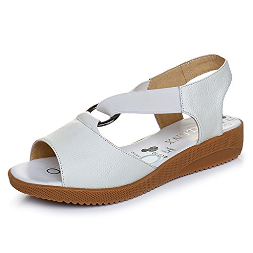 Slip Sandals 5 Women 8 Sandals L Shopping Size PENGFEI Summer Pregnant Color Leisure Non Female Bottom Soft 260mm with White Slippers UK7 Comfortable EU42 Flat White qzn11Wgxw5
