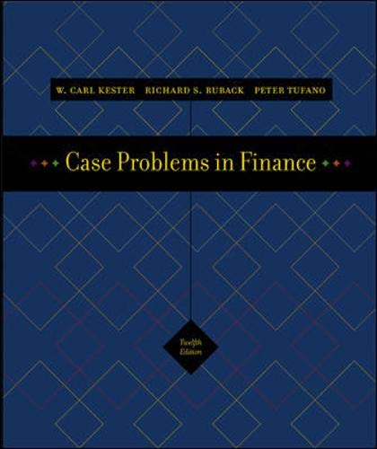 Case Problems in Finance + Excel templates CD-ROM (Irwin...