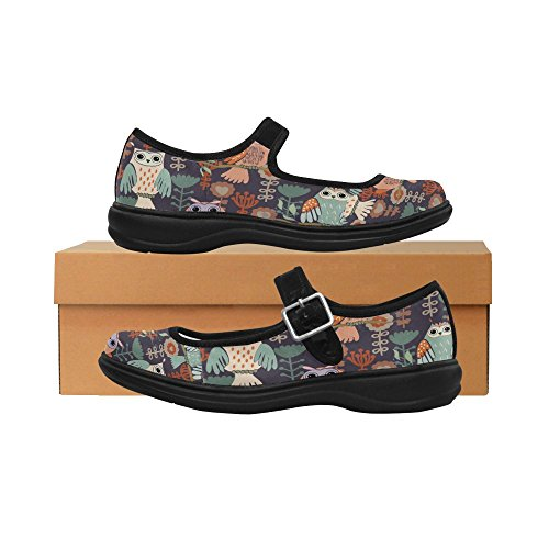 InterestPrint InterestPrint Shoes Womens Casual Jane Womens Comfort Walking Mary Flats Pfwdxz5v