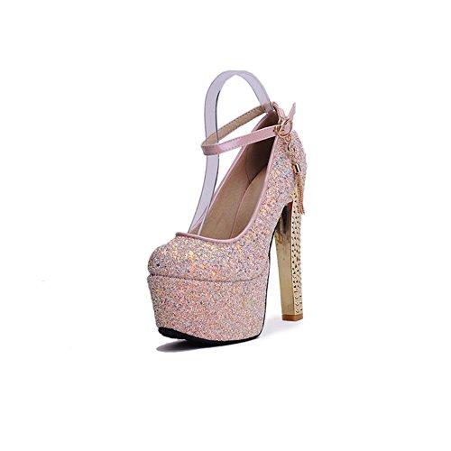 Scarpe scarpe EU38 impermeabile XUERUI comfort alti centimetri multa UK5 5 5 donna alti dimensioni signore tacchi 15 Moda tacchi col tacco CN38 wUxxCtq6