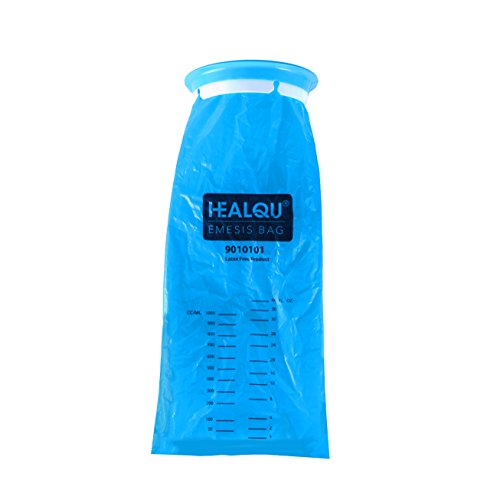 Pack Of 24 Blue Emesis Bag  Disposable Vomit Bags  1000Ml