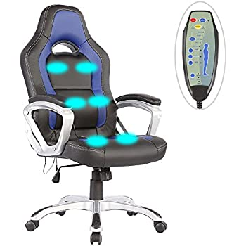 heated office chair. Mecor PU Leather Heated Office Chair-6 Vibration Massage Ergonomic Vibrating/Executive Computer Chair D