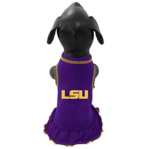 NCAA Louisiana State Fightin Tigers Cheerleader Dog Dress (Team Color, Small) ()