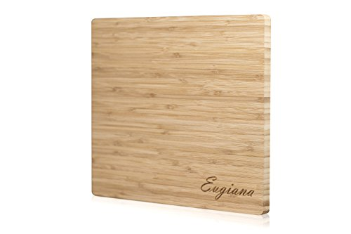 NEW EXTRA Eugiana Functional ORGANIC BAMBOO ECO KITCHEN CUTTING BOARD 12.9 11.8 inches for VEGETABLES MEAT FISH FRUITS HOT DISH Kitchen USA