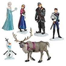"""5"""" LOT6 FROZEN Figurine Doll Toy Anna Elsa Hans Kristoff Sven Olaf NEW IN BOX by Yongyong"""