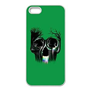 iPhone 4 4s Cell Phone Case White Life Flowing SKull KI5939339