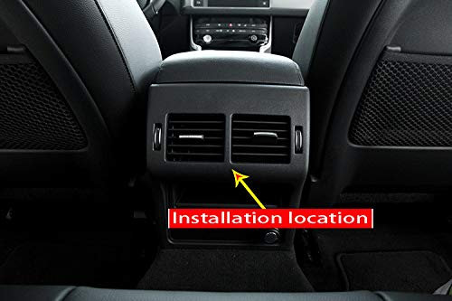 MAVMAX for Jaguar XE X760 XF X260 Carbon Fiber Style ABS Rear Seat Air Conditioning Outlet Frame Cover Trim