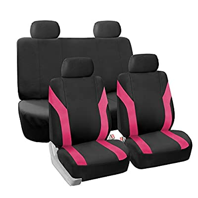 FH GROUP Pique Fabric Full Set Seat Covers - Fit Most Car, Truck, Suv, or Van