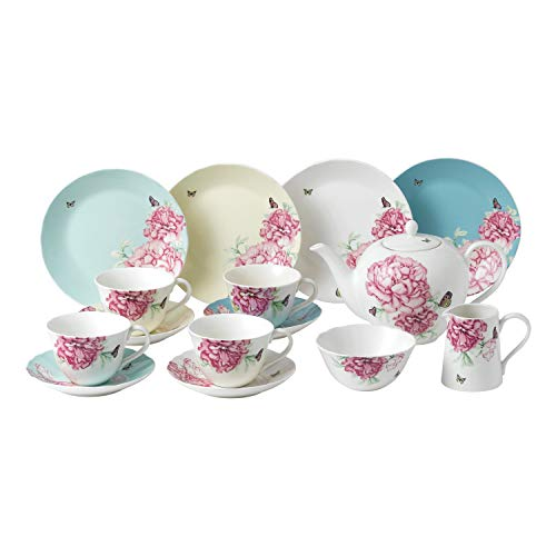 (Royal Albert Everyday Friendship 15-Pcs Tea Set Mixed Colors)
