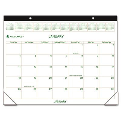A-glance 2010 Calendar (AT-A-GLANCE Recycled Two-Color Desk Pad, 22 x 17 Inches, 2010 (GG250000))