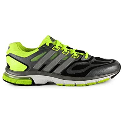 Adidas Mens Supernova Sequence 6 Running Shoes Black/Silver/Electric Green G97479 Size 8