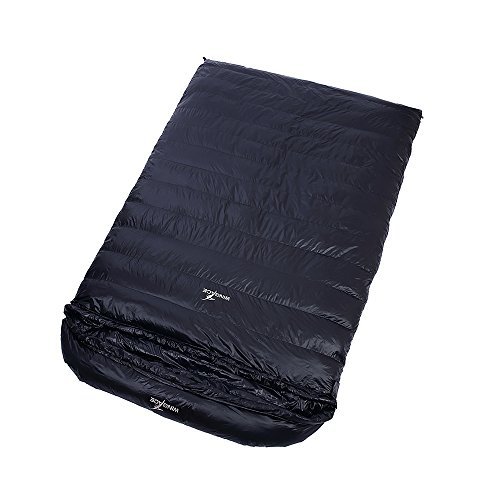 WINGACE Duck Down Double Sleeping Bags,1500g Fill, 3 Season, Envelope, Ultralight, with Compression Sack