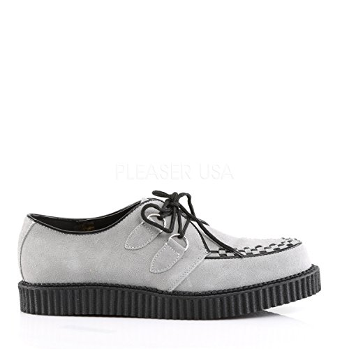 Intrecciano Piping W Piattaforma Demonia Unisex Rampicante Grigio E D ring Dettagli Grembiule up Lace Creeper 602 ZwqCw7a