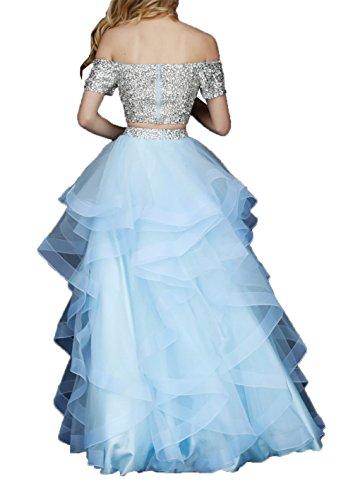 Elegant mit Dunkel Ballkleider A Abendkleider Damen Promkleider Steine Abiballkleider Wassermelon Langes Weinrot Charmant Linie pq5Tw7vv