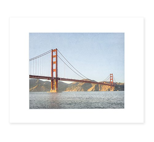 San Francisco Wall Art, Golden Gate Bridge Picture, Northern California Decor, 8x10 Matted Photography Print, 'Golden Gate'