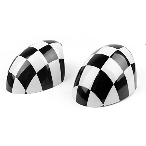 Areyourshop WING Mirror Covers for MINI Cooper R55 R56 R57 Power Fold (Mini Power Wing)