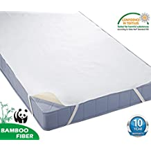"""HYSENM 100% Waterproof Organic Breathable Noiseless Anti-mite Anti-bacteria 10 Year Warranty Bamboo Mattress Protector For Baby Children, beige, 28""""X55"""""""