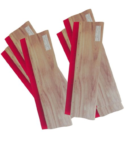 6 pcs 9.4'' (24cm) Silk Stencil Printing Squeegee Wood Screen Ink Scraper 007345 by Screen Printing Consumables