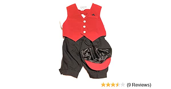 Bow Tie Hat Just Darling Infant Boys 5-pc Knickers Outfit Red Velvet Vest 3 to 24 Months
