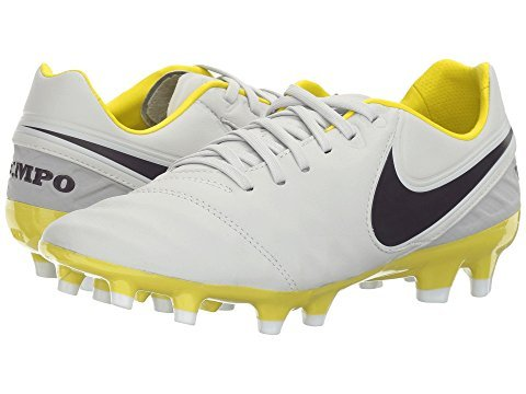 Nike Tiempo Legacy 2 FG Pure Platinum/Purple Dynasty/Electric Lime/White Women's Soccer Shoes 10 US by NIKE