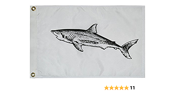 Taylor Made Products 3218 Fish Flag Nylon 12 Inch X 18 Inch Shark Sports Outdoors