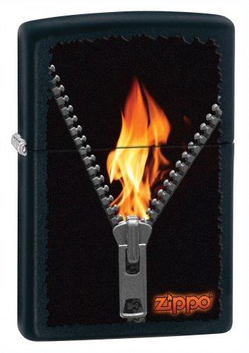 (Zippo Matter Zipper/Flame Lighter (Black, 5 1/2x3 1/2-Cm))