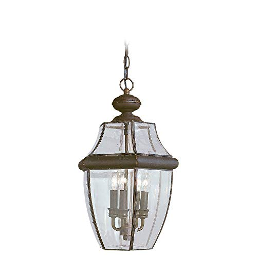 Sea Gull Lighting 6039-71 Lancaster Three Light Outdoor Pendant, Antique Bronze
