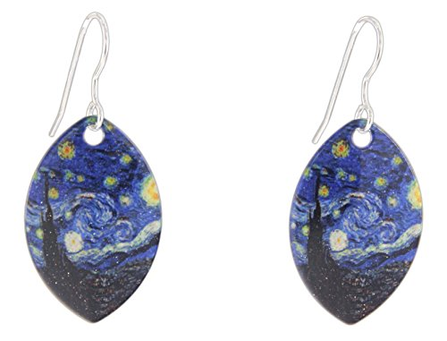 [D'ears Starry Night by Vincent van Gogh Teardrop Dangle Earrings] (Vincent Van Gogh Starry Night Costume)
