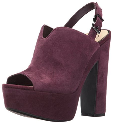 Jessica Simpson Women's Rel Platform Dress Sandal Burgundy Plum V3EKRMRQ