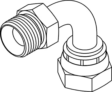 Tompkins Industries 3701 24 24 Bspp To Bspp Bent Tube Swivel Elbow