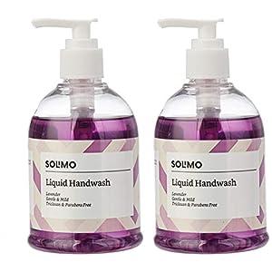 Amazon Brand – Solimo Handwash Liquid, Lavender – 250 ml (Pack of 2)