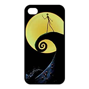 4s Case, iPhone 4 4s Case - Fashion Style New The Nightmare Before Christmas Painted Pattern TPU Soft Cover Case for iPhone 4/4s(Black/white)
