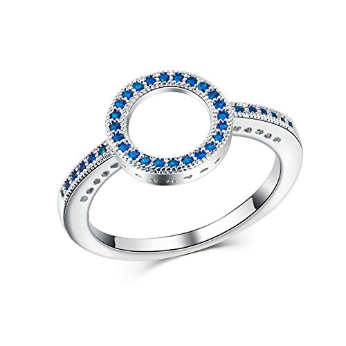 - DLNCTD Fashion Crystal Silver Color Ring for Women Flower Love Heart Crown Finger Rings Cocktail Part Brand Ring Jewelry,9,42