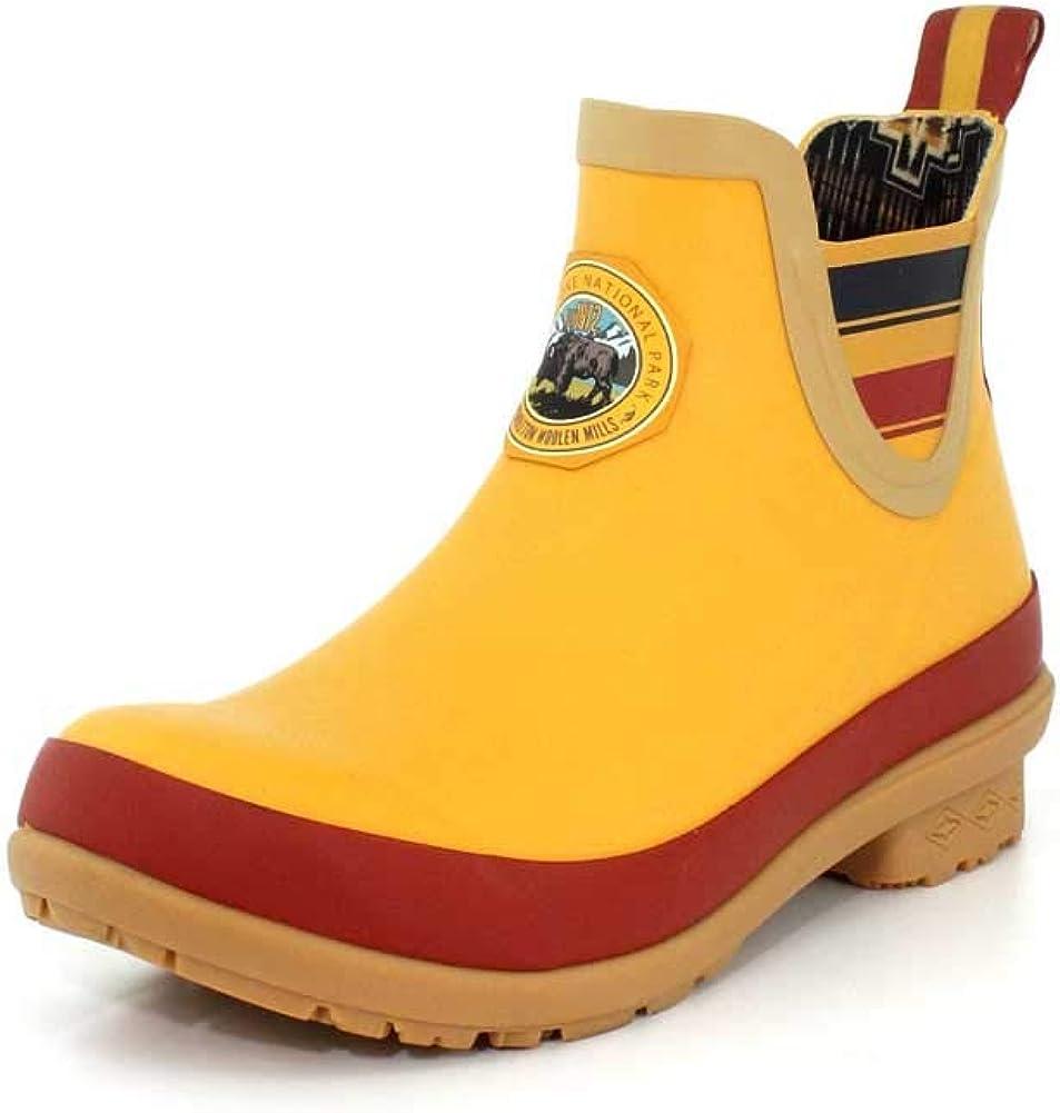 Pendleton Women's Heritage National Park Chelsea Ankle Length Slip-Resistant Rain Boot, Yellowstone Yellow, Size 8