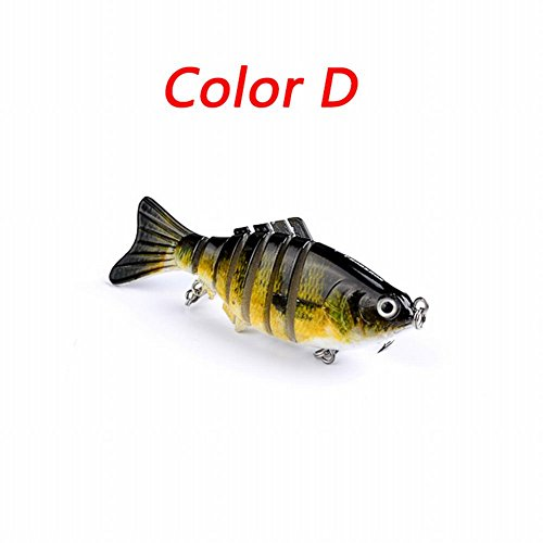 Smartcoco 10cm/15.5g Fishing Wobblers Artificial Fishing Lure Bait 3D Eyes 6 Segments Fish Lures 2 Hooks 6# Fishing - Sunglasses In Movie Black In Used Man