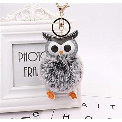 YHUJH Home Muñeco Llavero Pompom Ball Llavero Owl Plush Ball ...