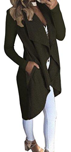 Trench Outwear Green Coat Army Mujer Jacket Cardigan Abrigo Suelto Chaqueta Yeesea Elegante qZa4wXgT