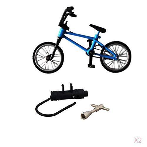 [해외]Prettyia Finger Mountain Bike BMX Fixie Creative Toy Gift- Blue / Prettyia Finger Mountain Bike BMX Fixie Creative Toy Gift- Blue
