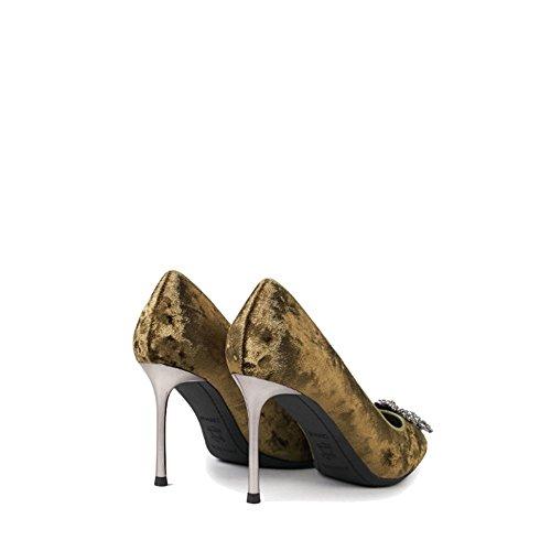 Femmes Sexy Talons Hauts Talons Aiguilles Escarpins A La Mode Des Sandales Chaussures De Mariage Danse Partie Boîte De Nuit Vert Partie