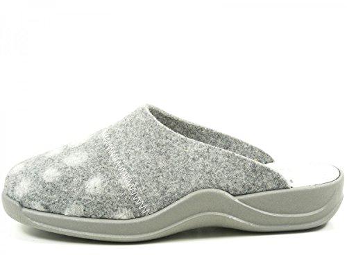 Rohde Damen Vaasa-d Pantoffeln Grau