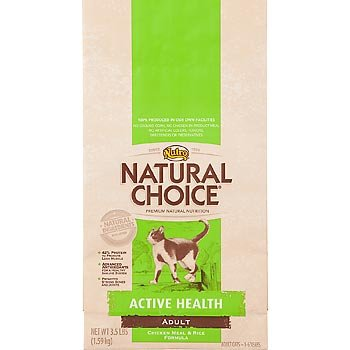 Natural Choice Cat Chicken Meal and Rice Formula Active Health Adult Cat Food, 15-1/2-Pound from The Nutro Company
